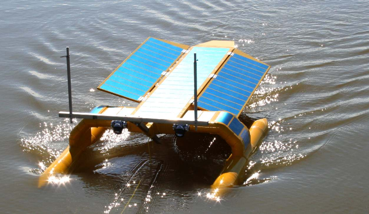 The SeaVax proof of concept boat during open water trials