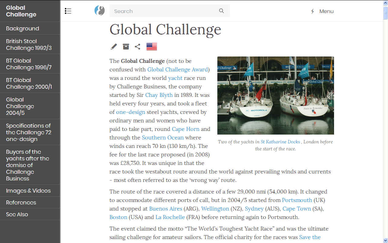 Global Challenge steel formular yacht race round the world