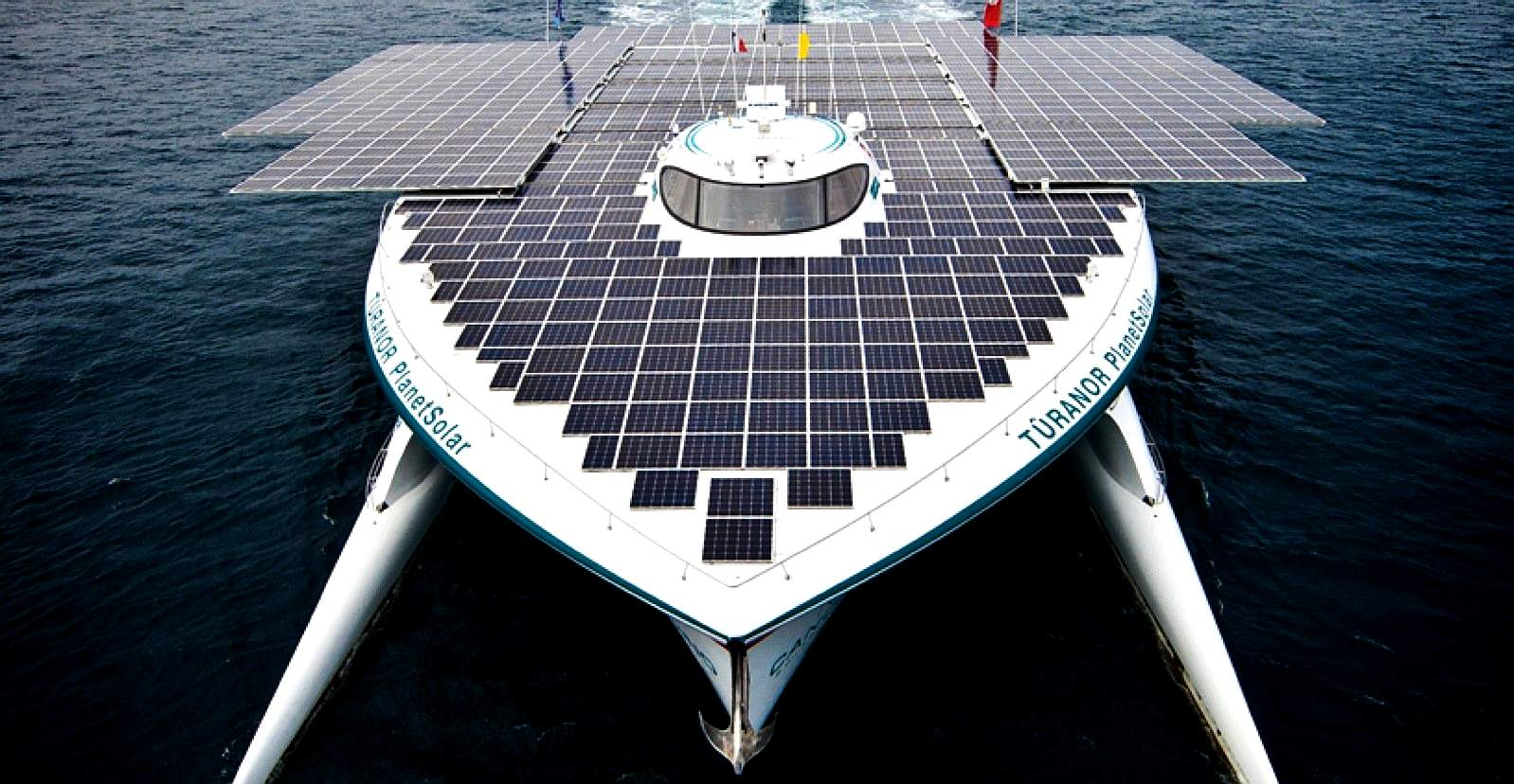 The largest solar powered boat in the world as of January 2019