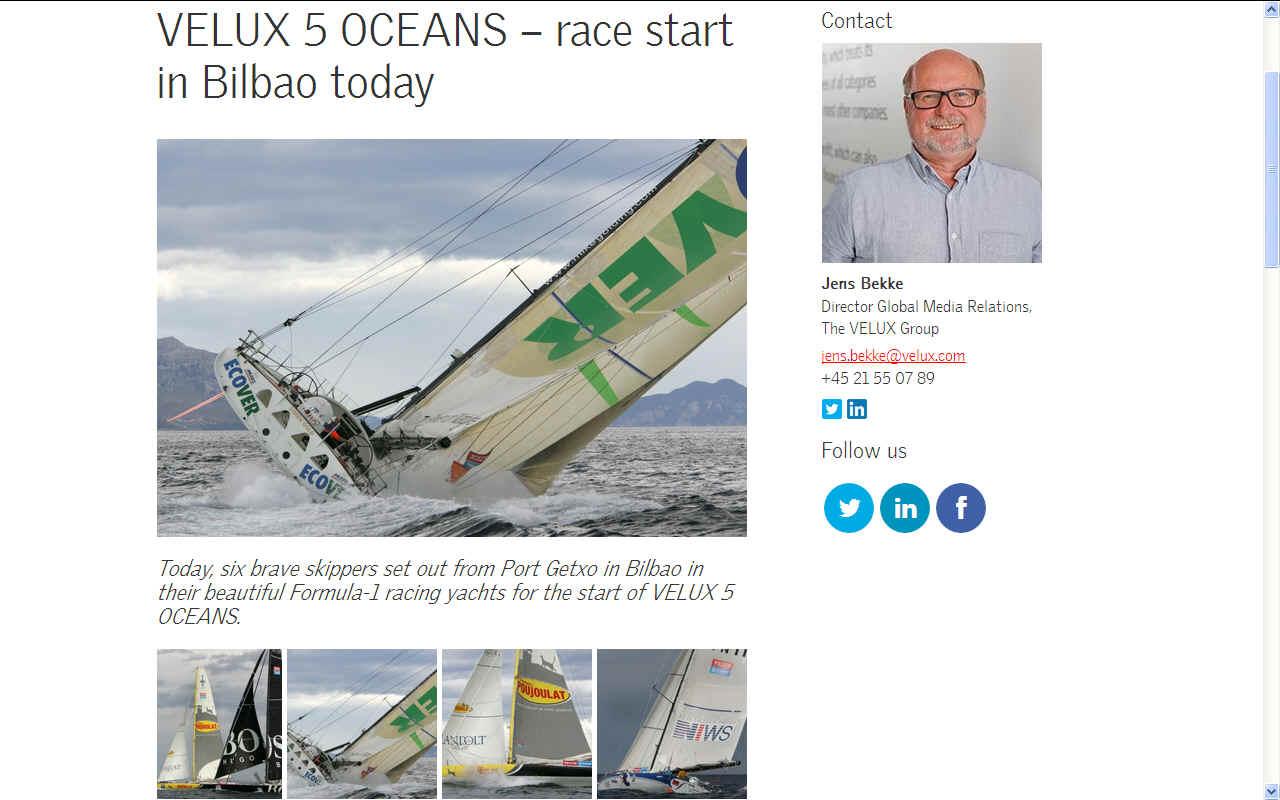 Velux ocean 5 sailing yacht race