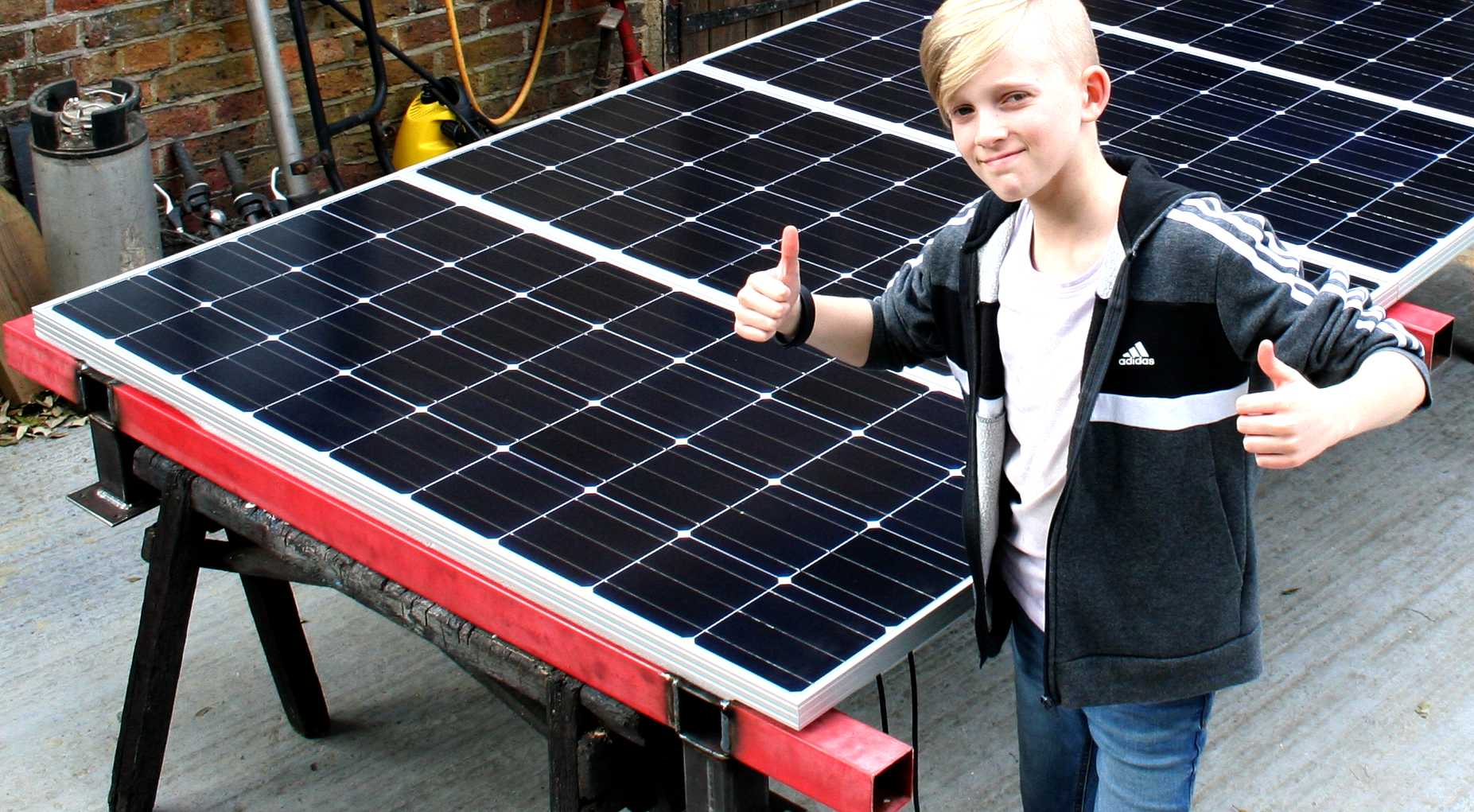 Ryan Dusart likes solar power because it is clean renewable energy