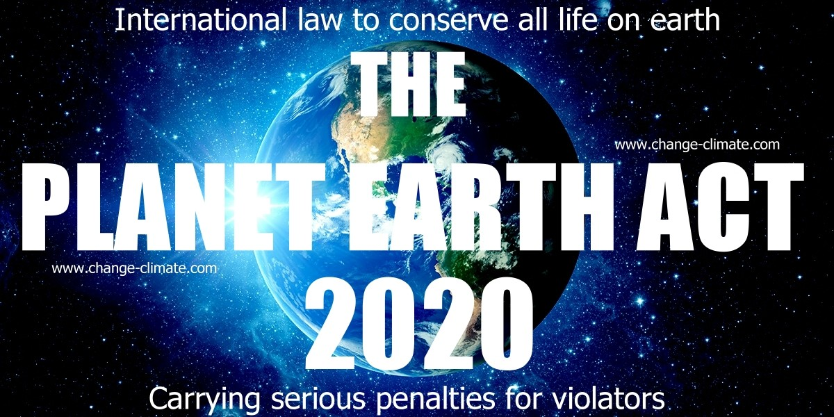 proposed legislation to criminalize those who kill animals and polute planet earth by inaction