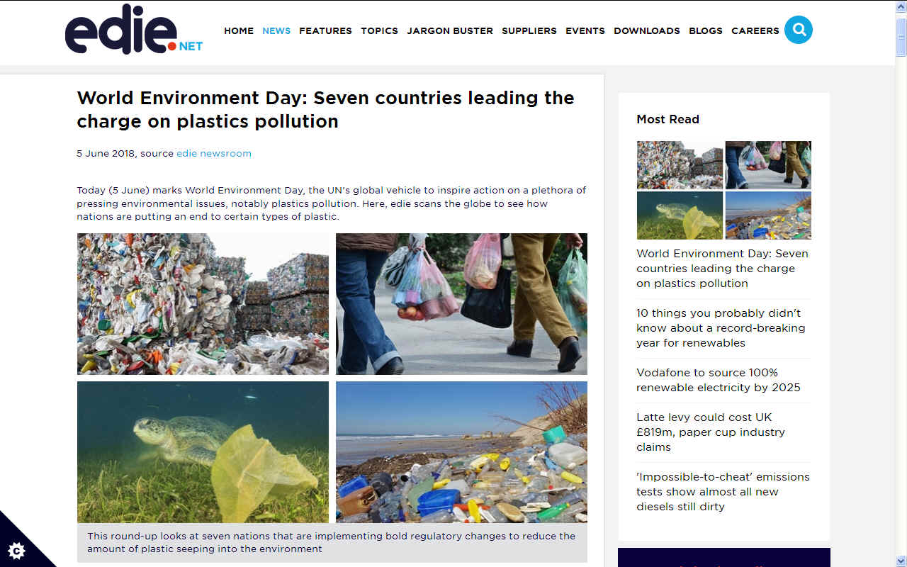 WORLD ENVIRONMENT DAY JUNE 5 2018 UNITED NATIONS