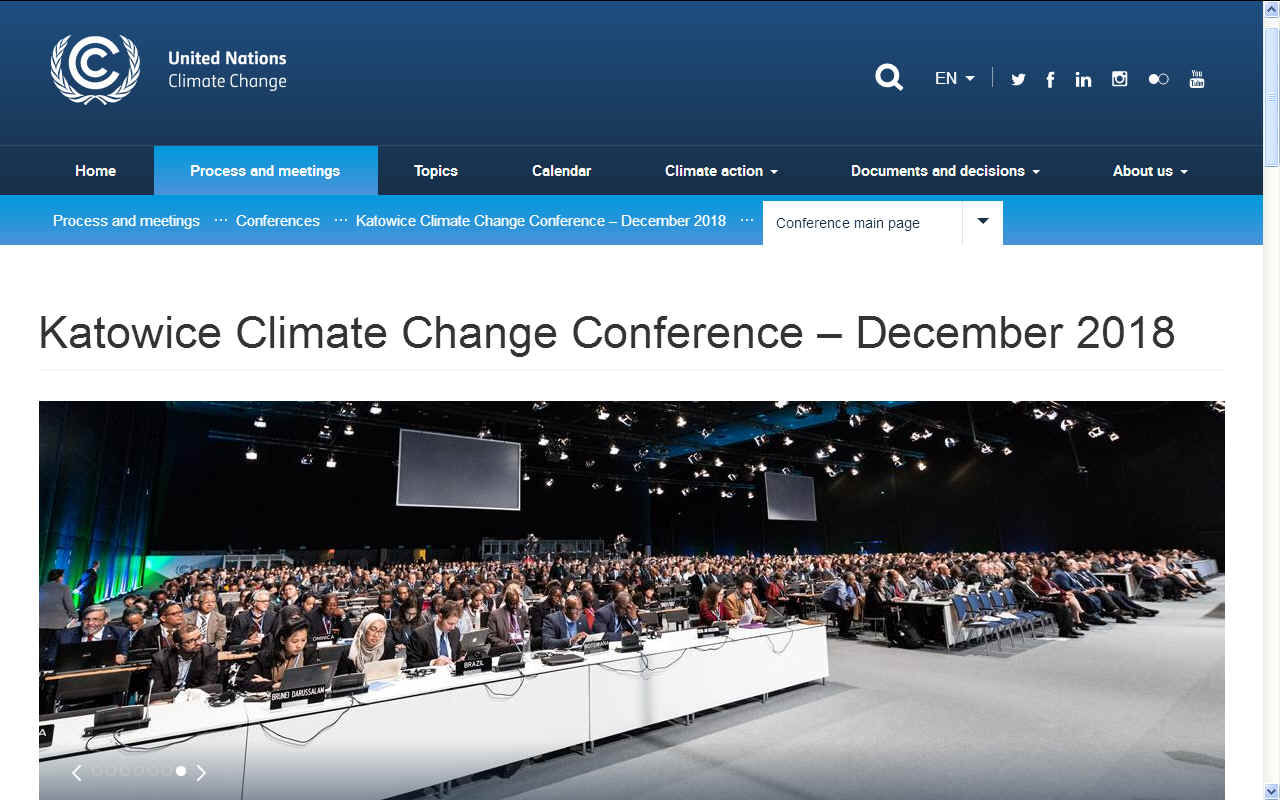 Climate change summit at Katowice in Poland 2018